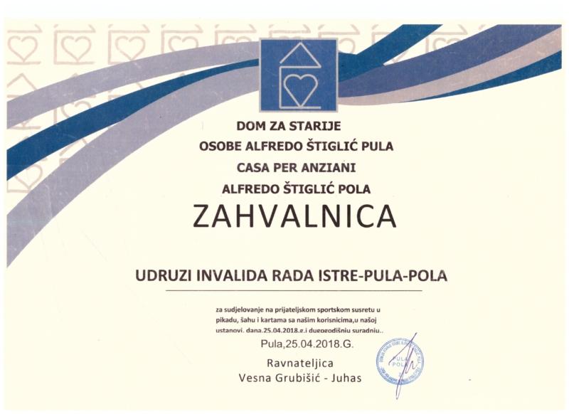 1. Zahvalnica Alfredo Štiglić